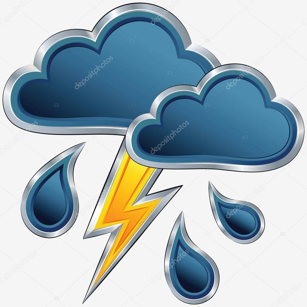 1024x1024 Vector Weather Icon With A Storm Weather Stock Vector Olgacov