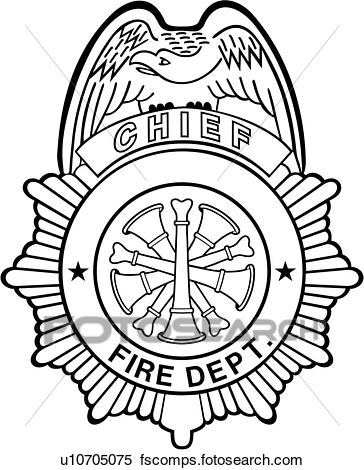 364x470 Clipart Of , Badge, Chief, Department, Emergency, Emergency