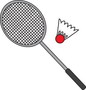 288x300 Badminton Clipart Image