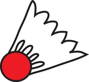 300x277 Badminton Clipart Image