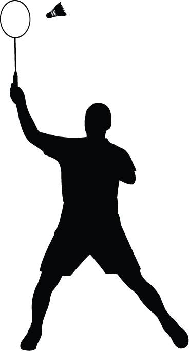 368x684 Badminton Silhouette Cliparts#176661