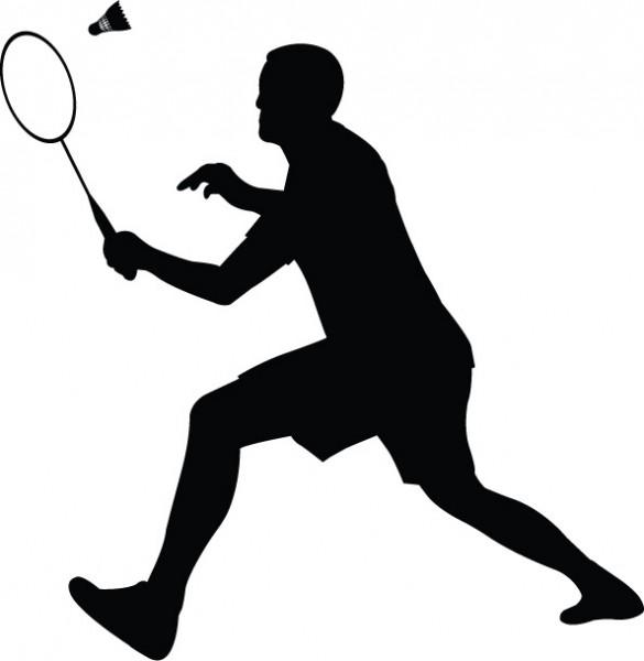 585x600 Badminton Player Clipart 2 Nice Clip Art
