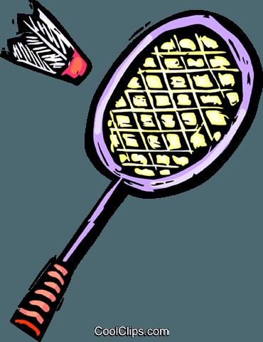 370x480 Badminton Racket And Birdie Royalty Free Vector Clip Art