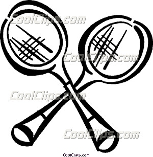 300x307 Badminton rackets Clip Art