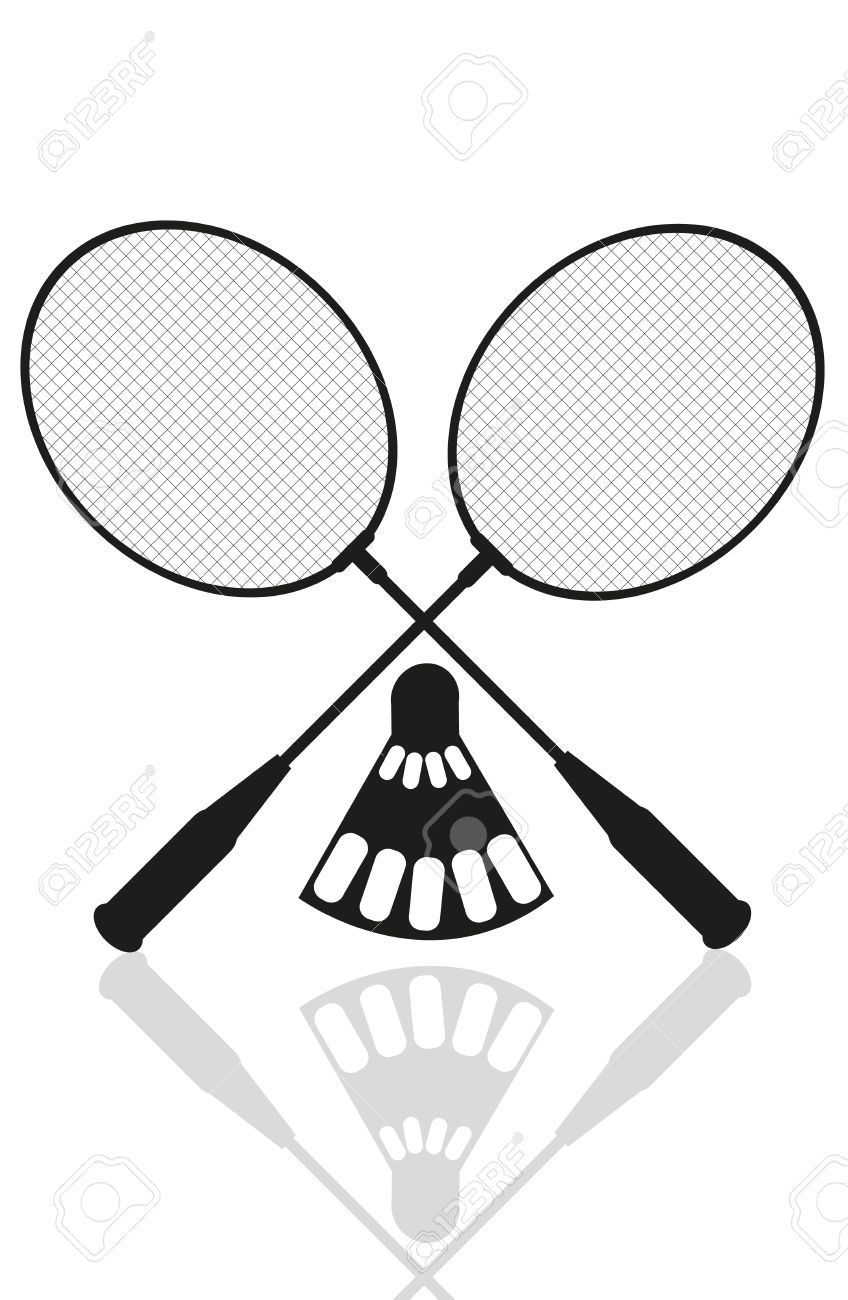 848x1300 Black Clipart Badminton