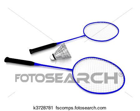 450x357 Clipart of Badminton gear. k3728781