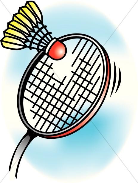 463x612 Colorful Clipart Badminton