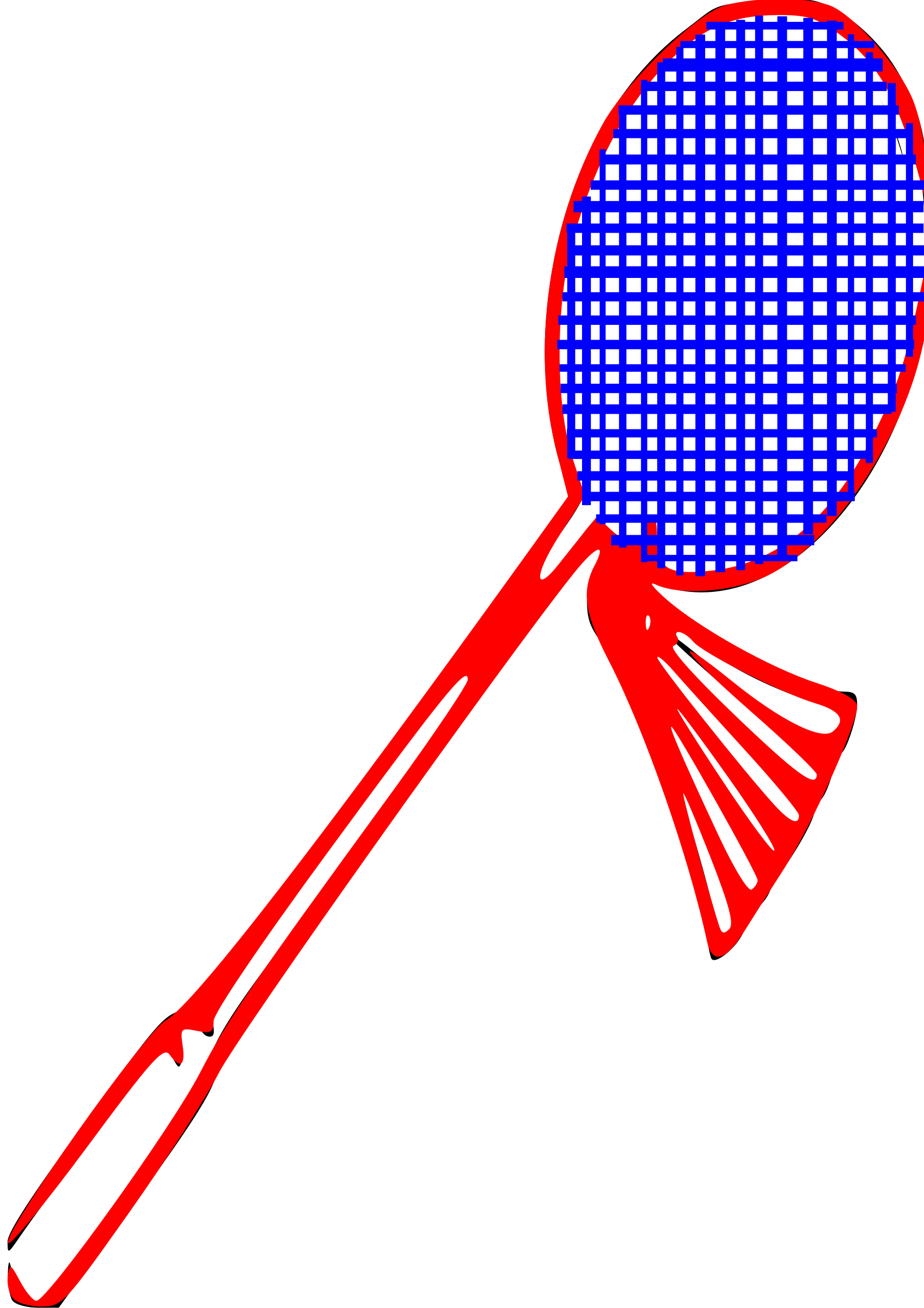 1697x2400 Outline Badminton Clipart