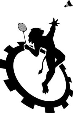 239x368 Vector badminton for free download about (6) vector badminton