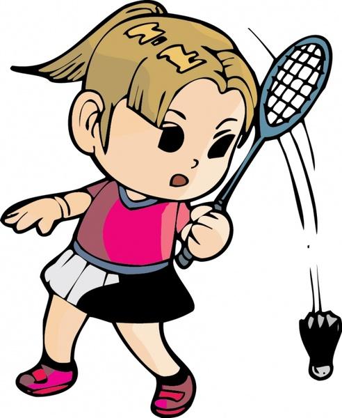 492x600 Vector Badminton Free Vector Download (32 Free Vector)