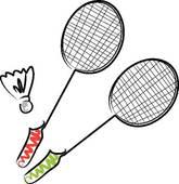 165x170 Badminton Clip Art