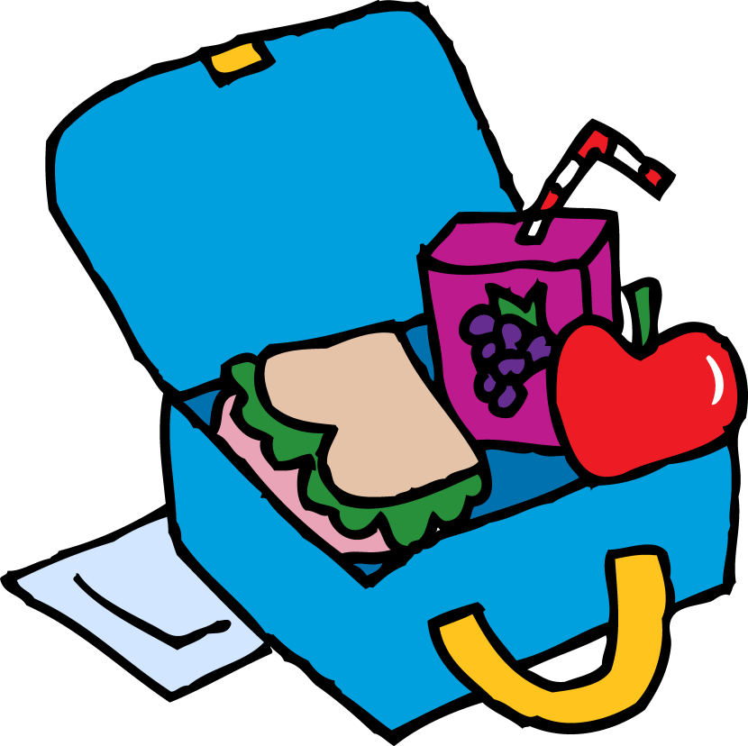 830x828 Blue Lunch Bag Cliparts