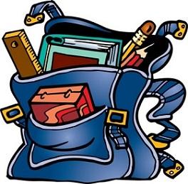 264x259 Book Bag Clipart
