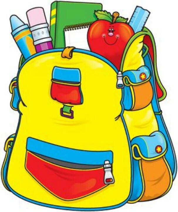 606x721 Book Bag Cliparts