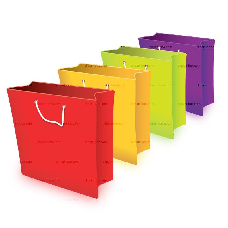 800x800 Mall Shopping Bags Clipart