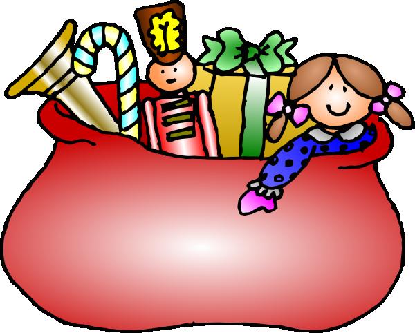600x482 Santa Claus Bag Clip Art