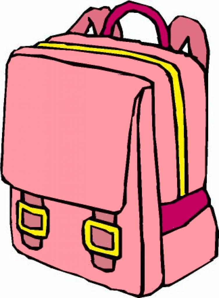 752x1024 School Bag Images Clip Art Cliparts