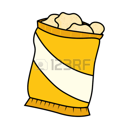Bag Of Chips Clipart