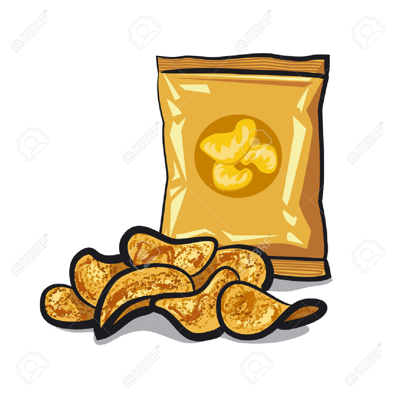 1300x1300 Chips Clipart Potato Chip