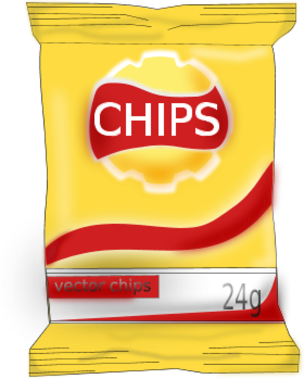 600x748 Potato Chip Clip Art