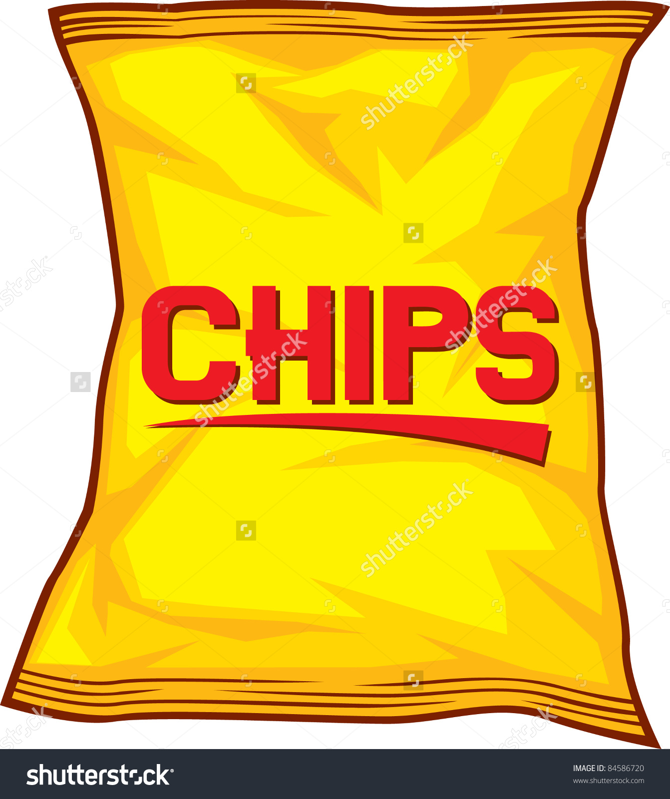 1342x1600 Potato Chips Clipart