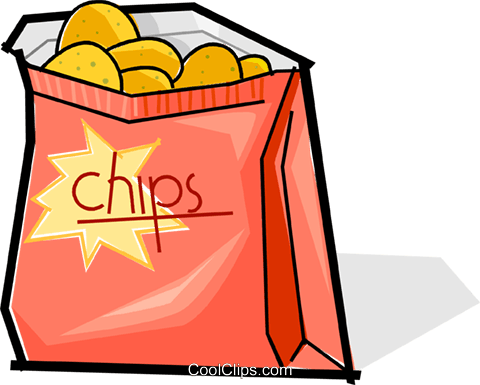 480x385 Bag Of Chips Royalty Free Vector Clip Art Illustration Vc061828