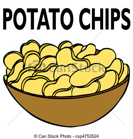 450x470 Bag Of Chips Clipart 2014326
