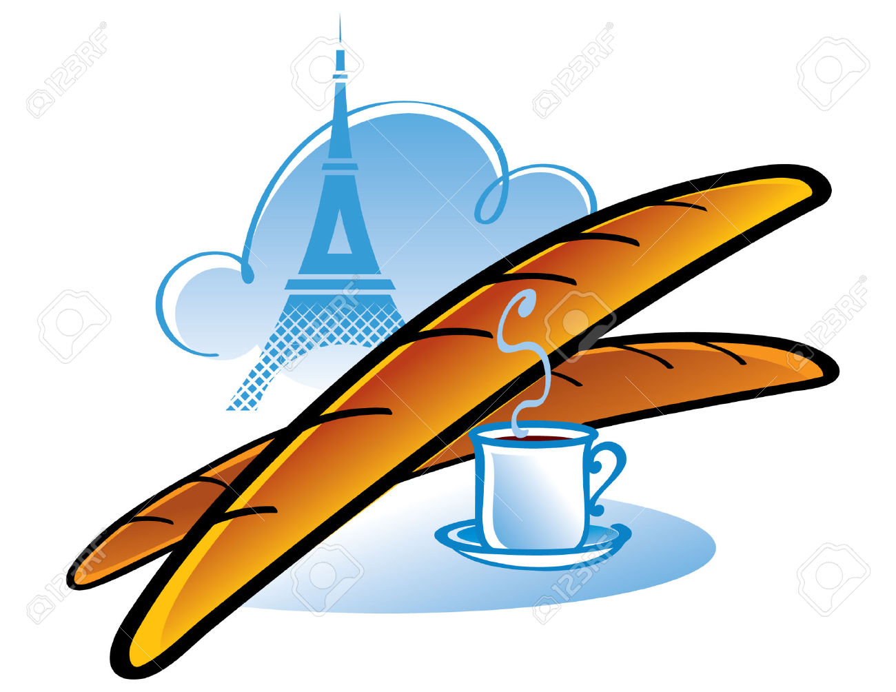 1300x1004 France Clipart French Baguette