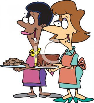 318x350 Women Going To A Bake Off Clip Art