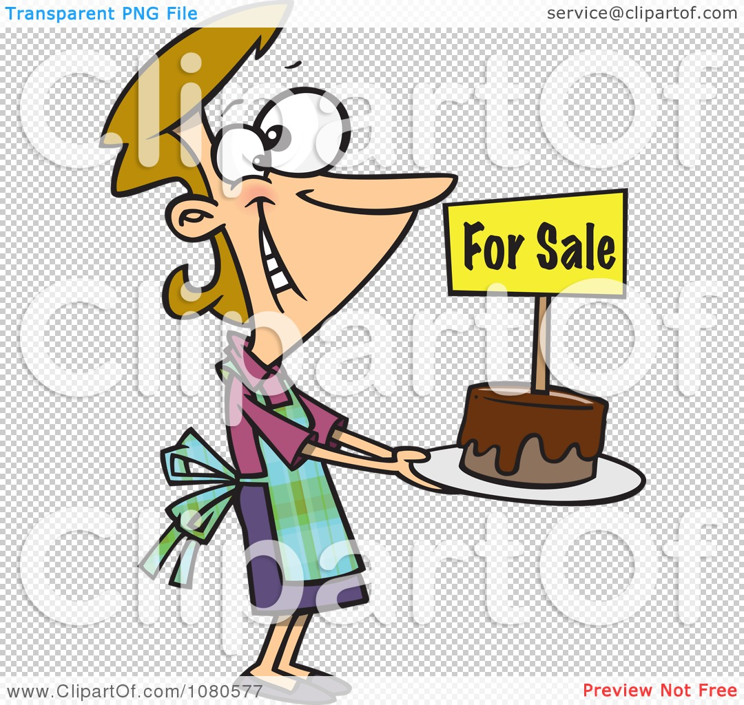 1080x1024 Clipart Pleased Bake Sale Woman Holding Out A Cake