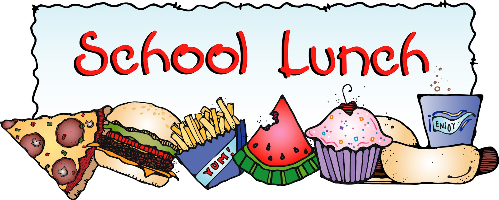 1600x643 School Lunch Clip Art Clipart Cliparts For You
