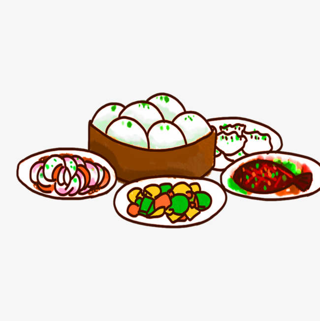 650x651 Creative Dinner, New Year, Reunion Dinner, Creative Food Png Image