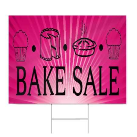450x450 Bake Sale Sign