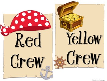 350x267 Pirate Themed Colored Crew Signs By Pirates In Primary Tpt