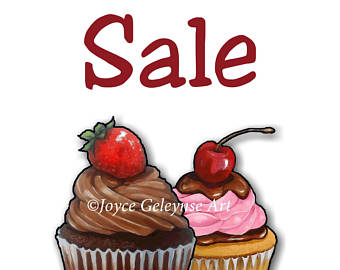 340x270 Printable Bake Sale Sign With Artwork Of Cupcakes Pink