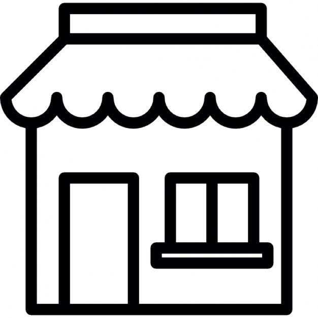 626x626 Bakery Shop Structure Outline Icons Free Download