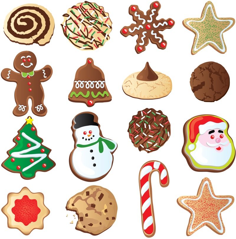800x808 Christmas Cookie Clip Art
