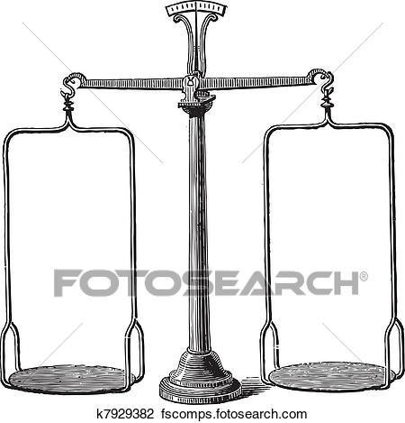 450x469 Clipart Of Balance Scale Vintage Engraving K7929382