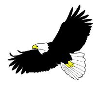 206x179 Flying Eagle Clipart