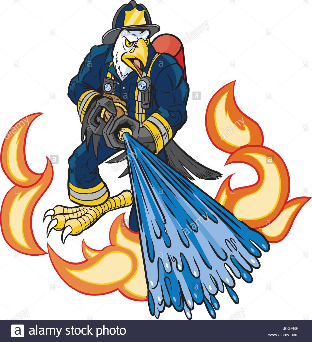 1268x1390 Vector Cartoon Clip Art Illustration Of A Tough Mean Bald Eagle