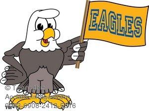 300x224 Art Illustration Of A Bald Eagle With Team Flag
