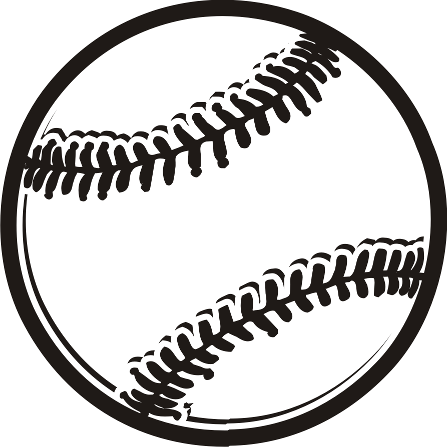 893x894 Ball Black And White Baseball Clipart