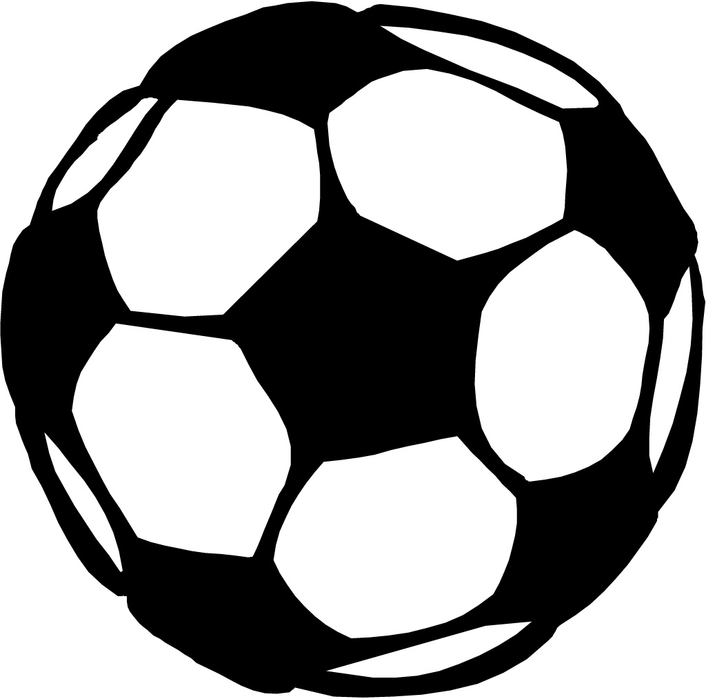 1024x1013 Free Soccer Clipart Black And White Image