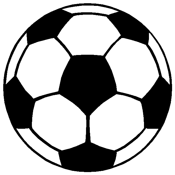 598x598 Soccer Clipart Black And White