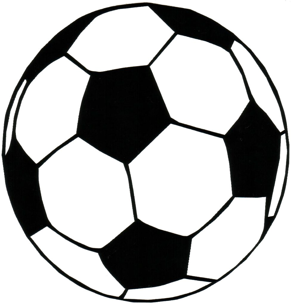 979x1024 Soccer Ball Black And White Clipart