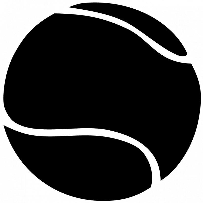 800x799 Tennis Ball Clipart Black And White