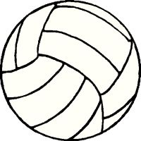 200x200 Volley Ball Clip Art Volleyball Clip Art Black And White Free