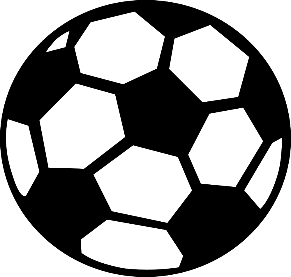 999x951 Soccer Ball Black White Clipart Panda