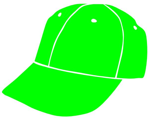 600x476 Lime Baseball Cap Clip Art