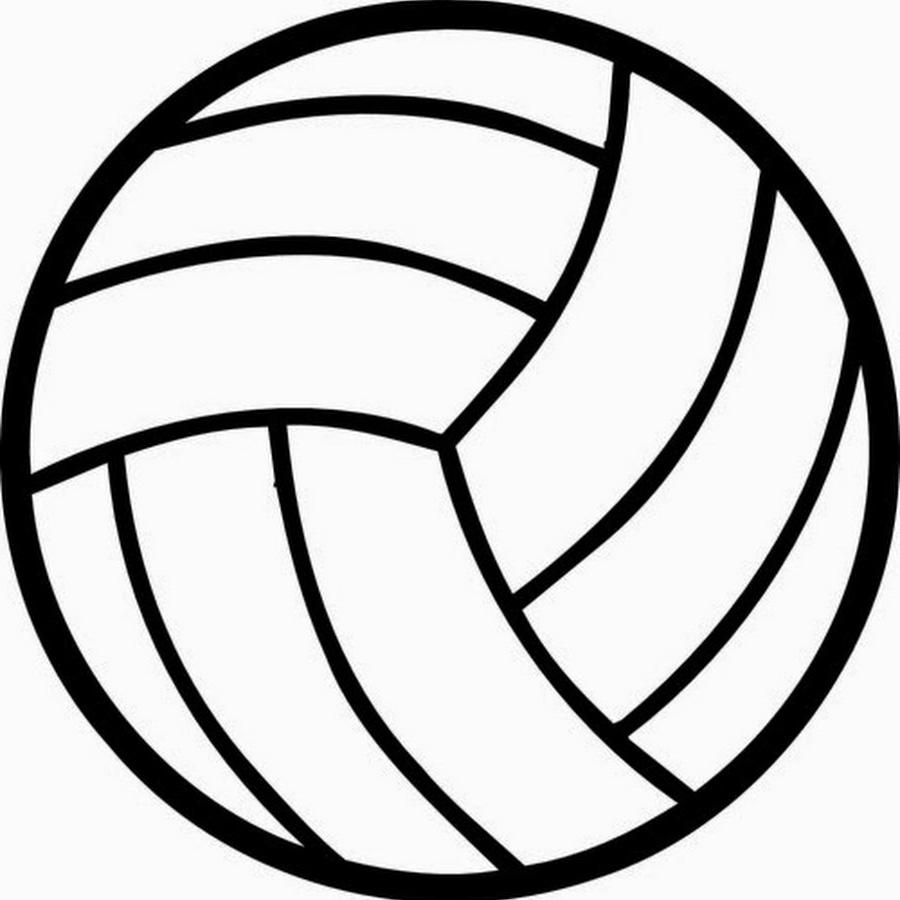 900x900 Best 15 Black And White Volleyball Ball Clipart Image